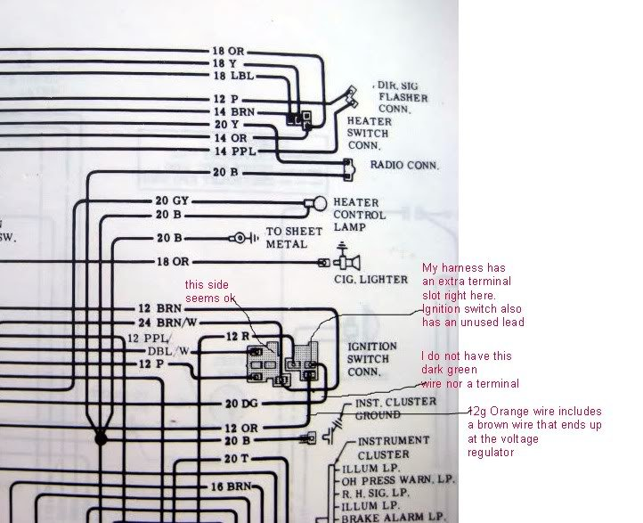 can someone tell me where these wires connect to the ... 71 nova wiring diagram