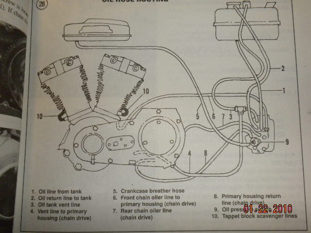 How Do You Route The Oil Lines On A 1982 Fxrs  I Picked Up A Basket Case  And All The Oil Lines