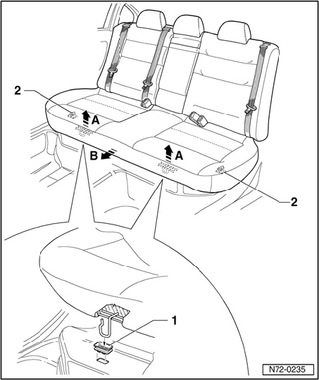 service manual  how do you remove the bottom rear seat