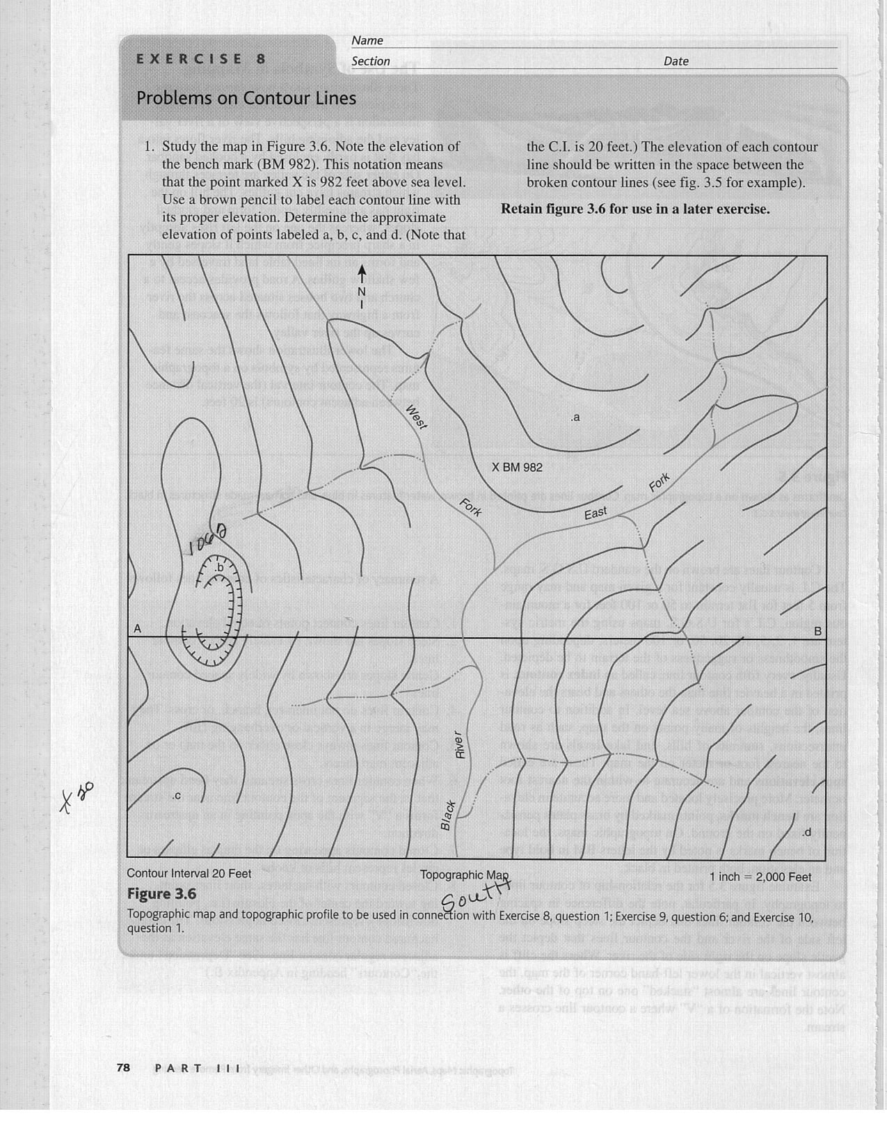 Individual Reading Mapsa Topographic Maps Exercise – How to Read a Topographic Map Worksheet
