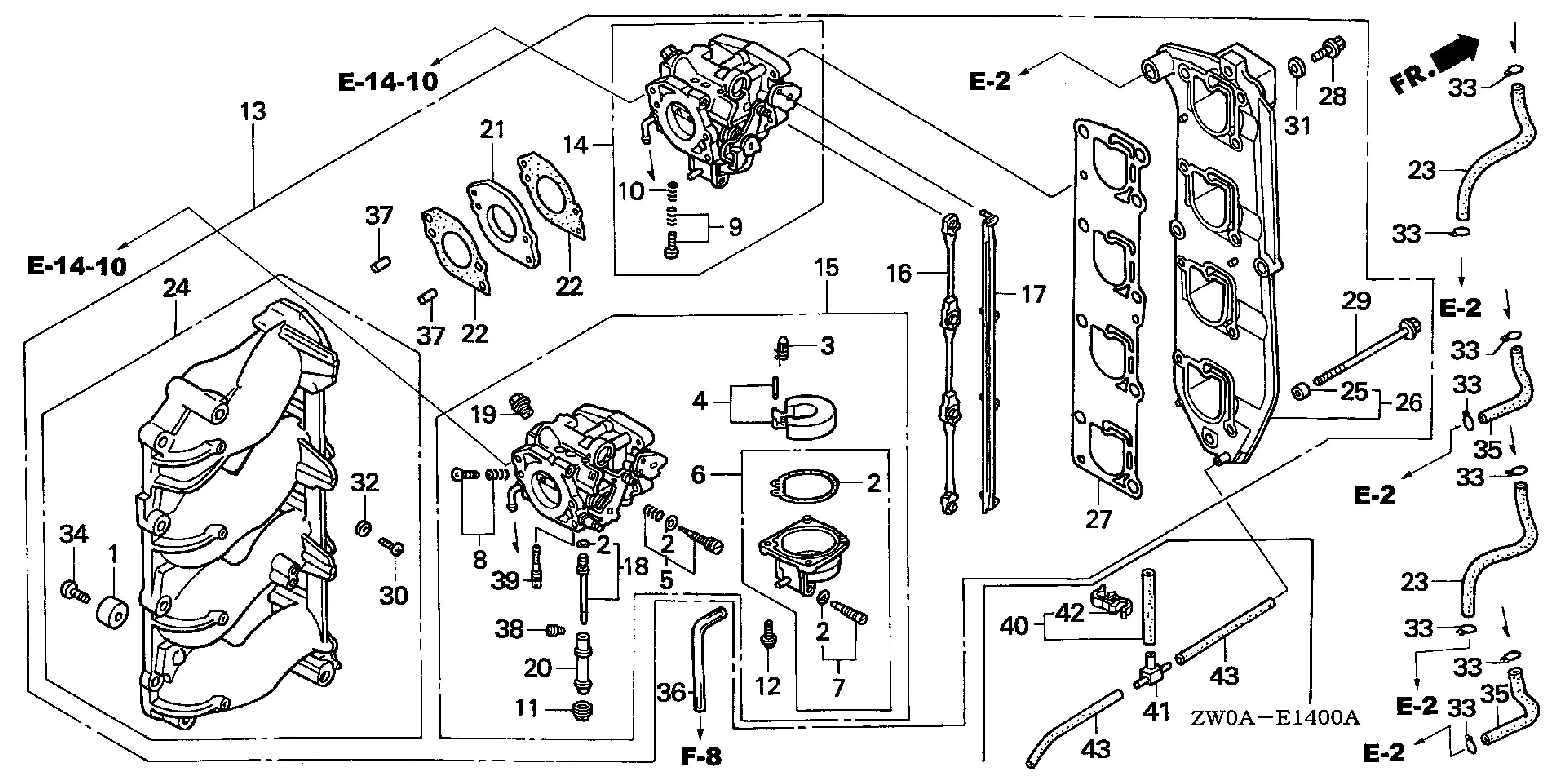 Can You Send Me An Exploded View Diagram Of A 2004 90hp