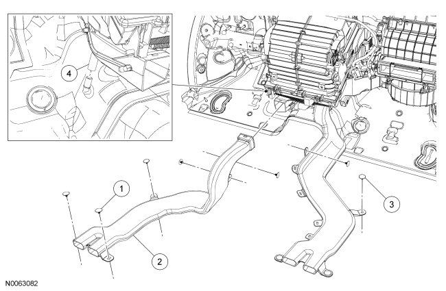 2008 ford: turn left..passenger side under the glove box..floor board