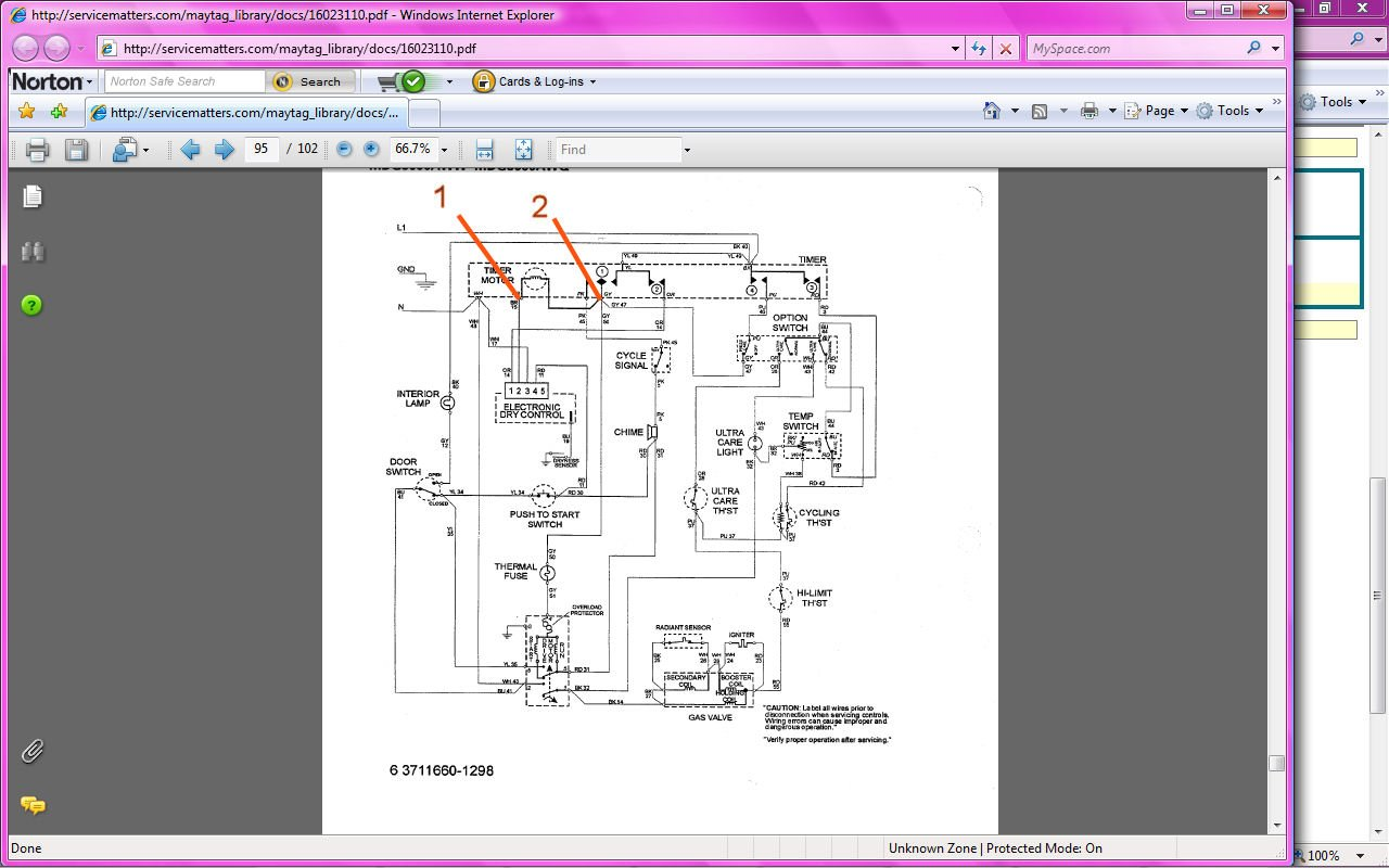 I Have A Maytag Atlantis Electric Dryer And The Timer Was Not Whirlpool Senseon Wiring Diagram Graphic