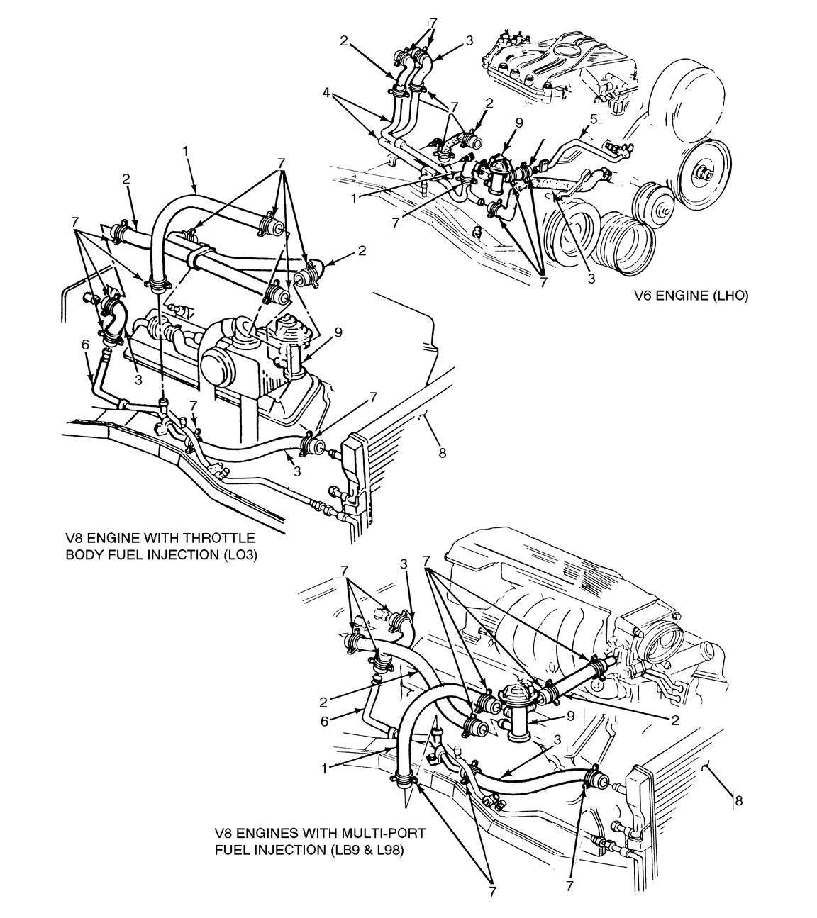 I Have A 1992 Firebird 50 Am Replacing The Heater Core Came L98 Engine Diagram Graphic