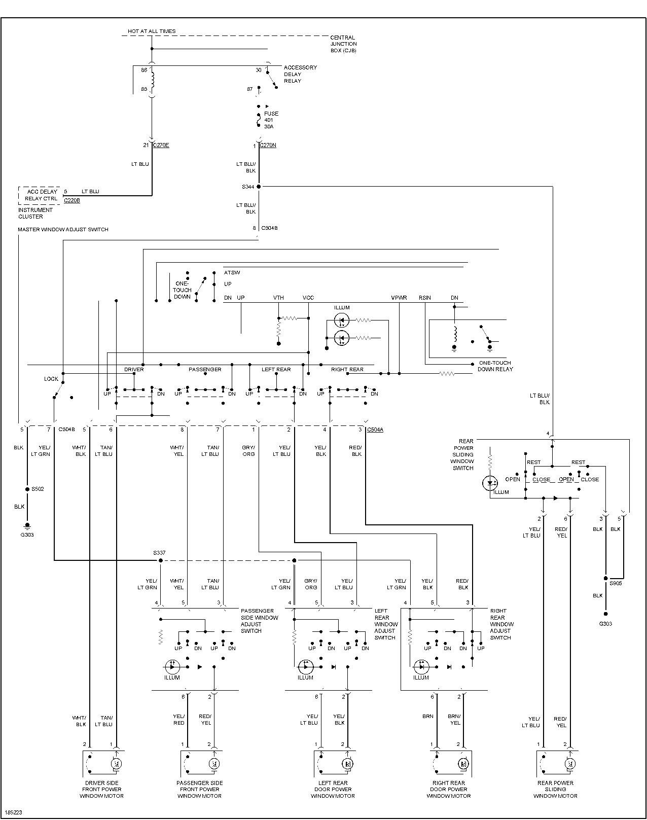 ford power window diagram ford power window switch wiring diagram