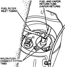 contour se: diagram or can someone show me how to remove a ... 98 mercury 150 fuel filter