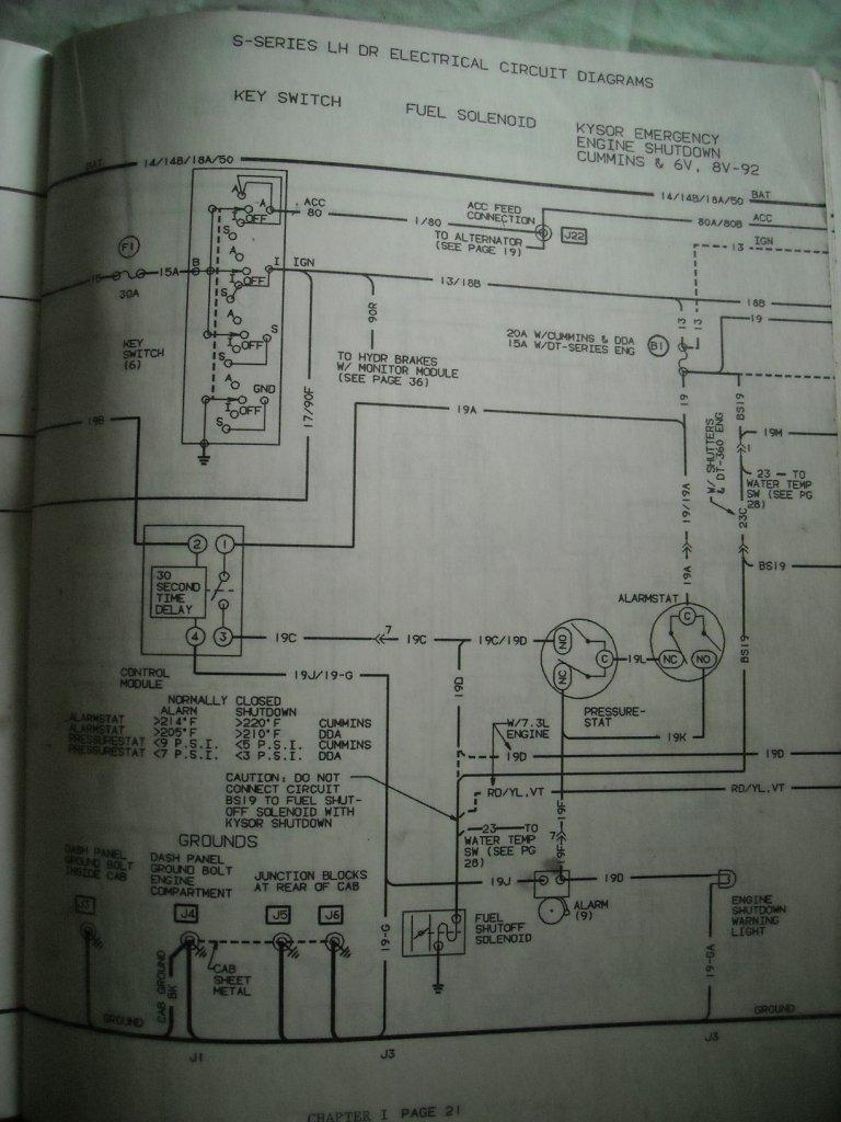 International S1600 Series Diagram Or Schamatics For Fuse Box  U0026 Ign  Switch Mfg  Date 12