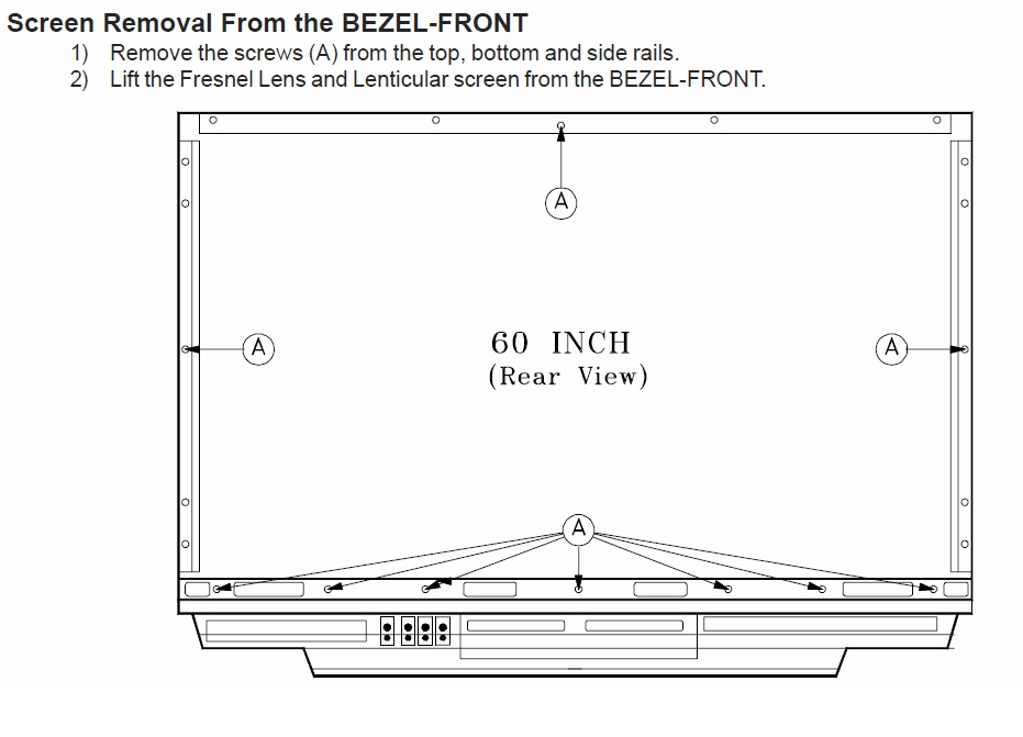 How To Replace The Front Screen On A 60 Dlp Mitsubishi Tv